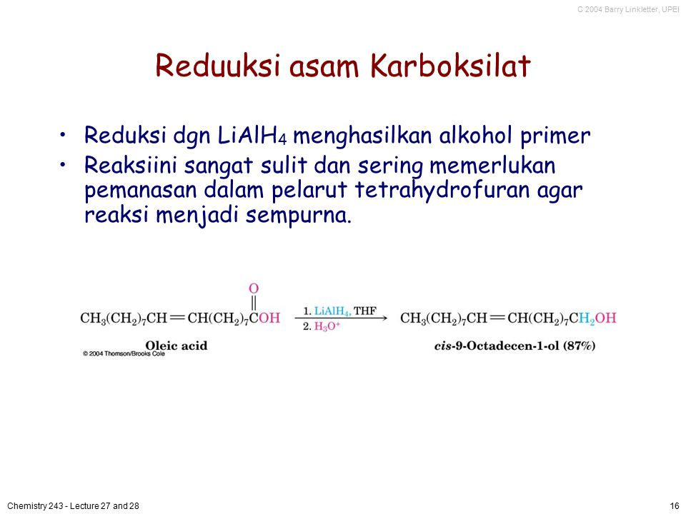 Reduuksi asam Karboksilat