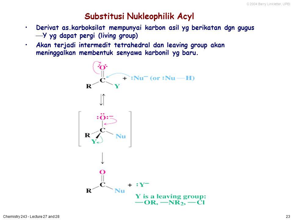 Substitusi Nukleophilik Acyl