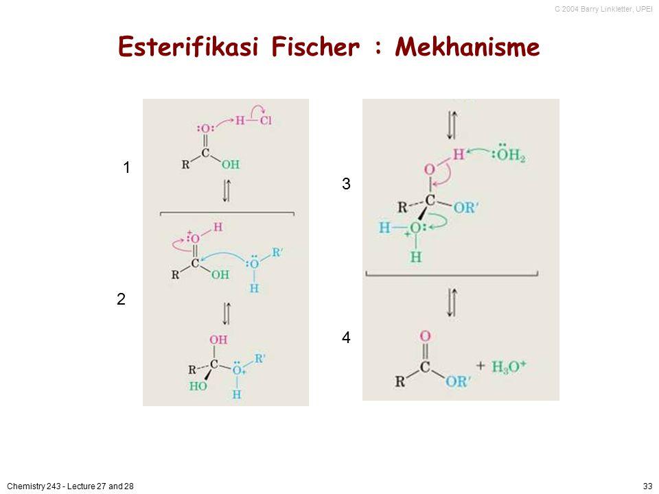 Esterifikasi Fischer : Mekhanisme