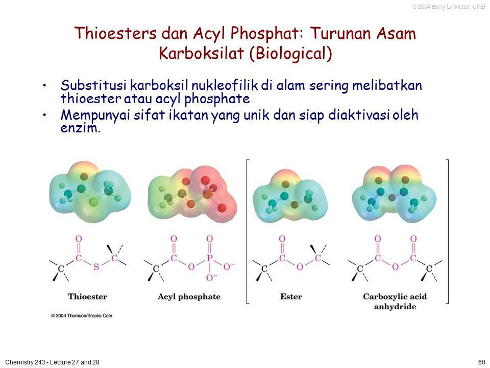 Thioesters dan Acyl Phosphat: Turunan Asam Karboksilat (Biological)
