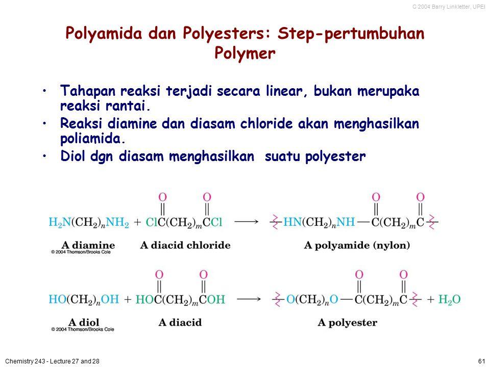 Polyamida dan Polyesters: Step-pertumbuhan Polymer
