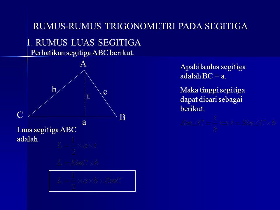 RUMUS-RUMUS TRIGONOMETRI PADA SEGITIGA
