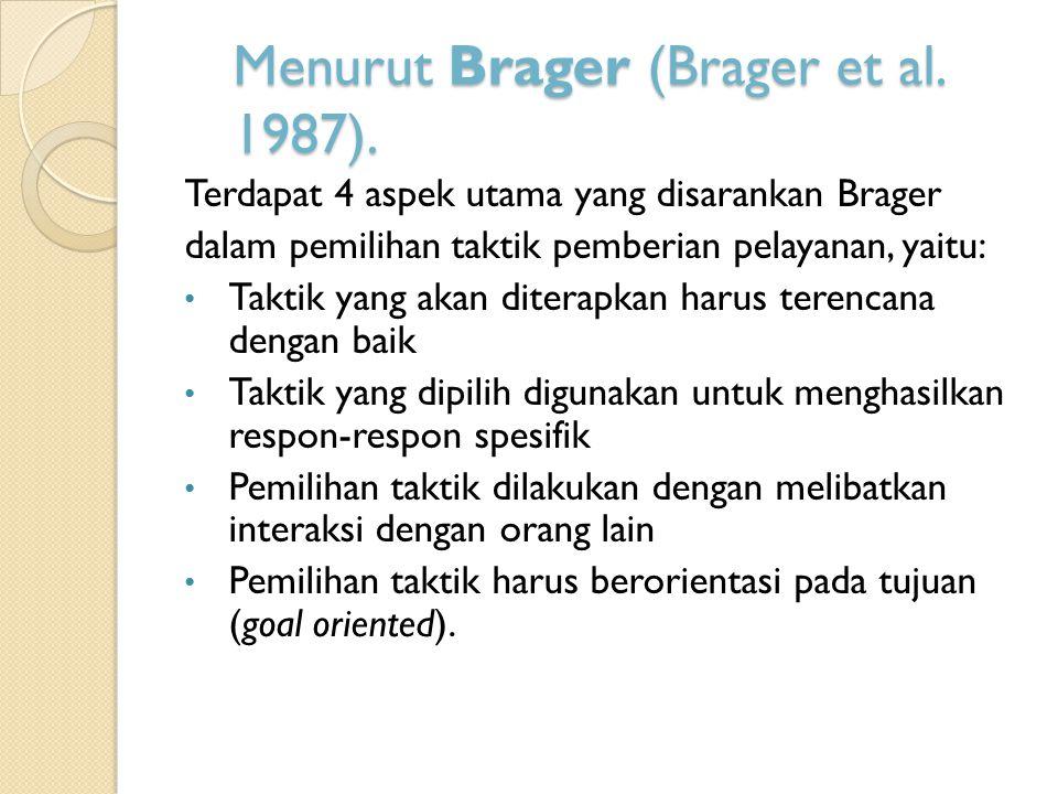 Menurut Brager (Brager et al. 1987).