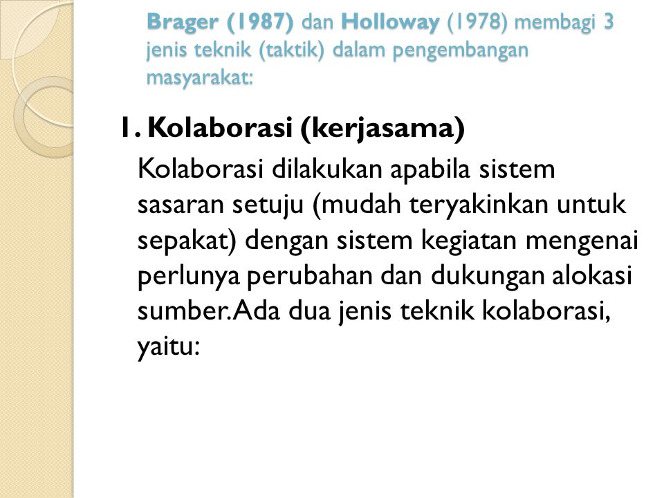 1. Kolaborasi (kerjasama)