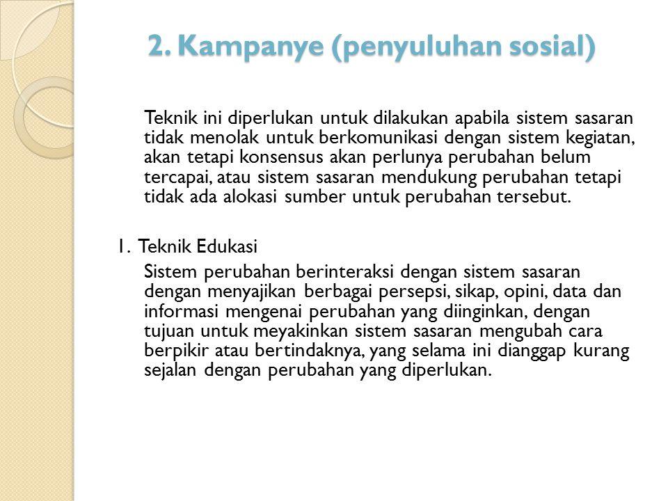 2. Kampanye (penyuluhan sosial)