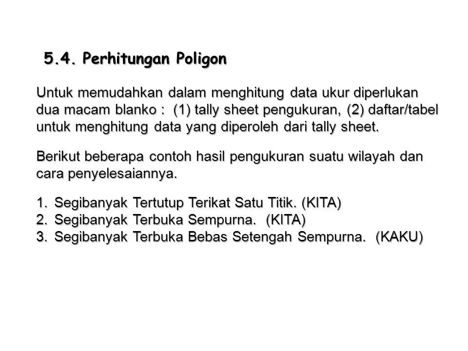 5.4. Perhitungan Poligon