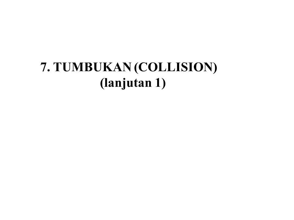 7. TUMBUKAN (COLLISION) (lanjutan 1)