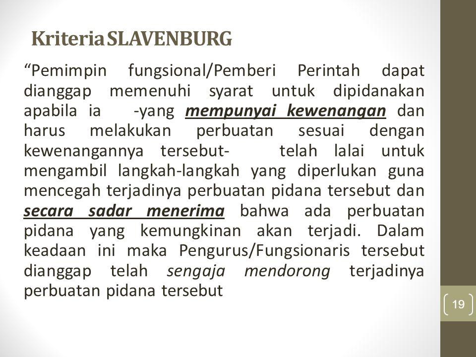 Kriteria SLAVENBURG
