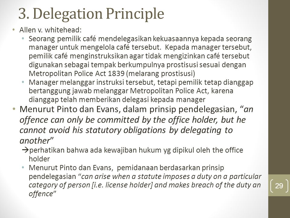 3. Delegation Principle Allen v. whitehead:
