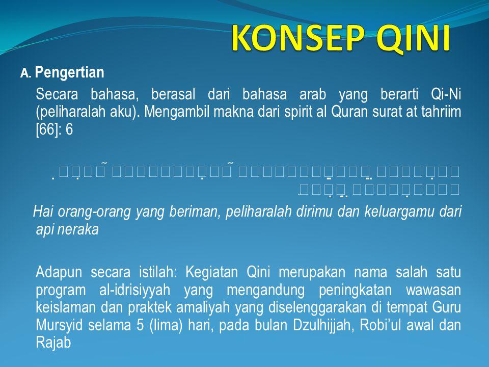 KONSEP QINI A. Pengertian.