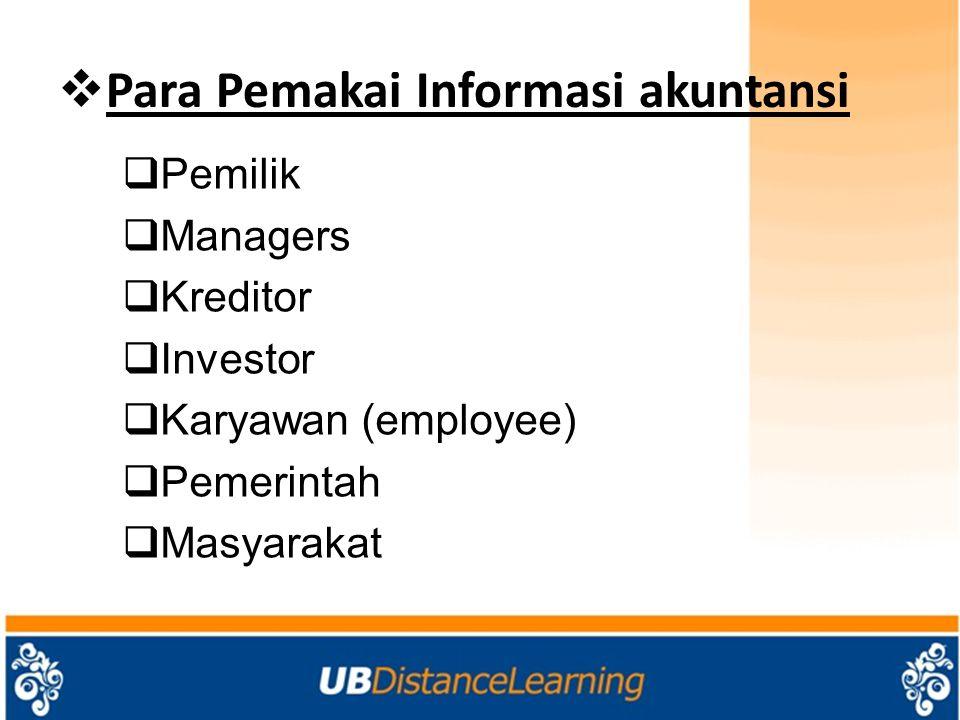 Para Pemakai Informasi akuntansi