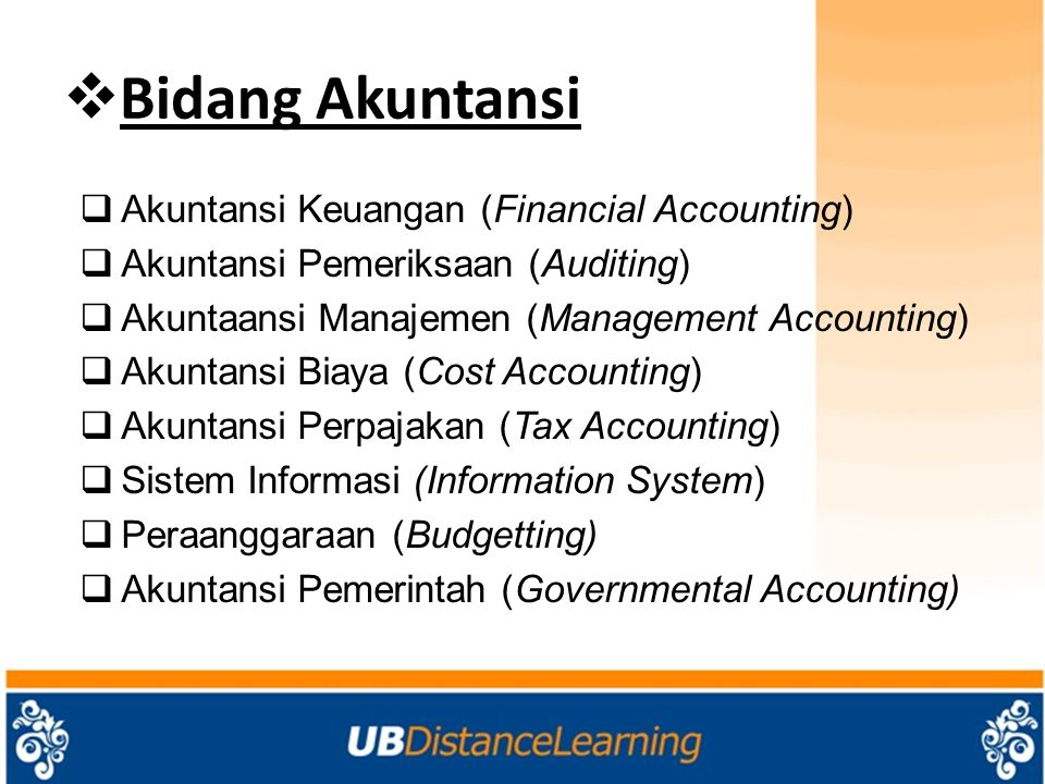Bidang Akuntansi Akuntansi Keuangan (Financial Accounting)