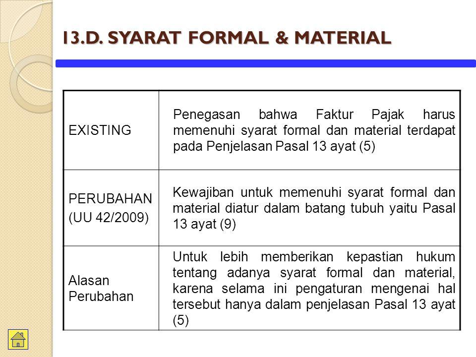 13.D. SYARAT FORMAL & MATERIAL