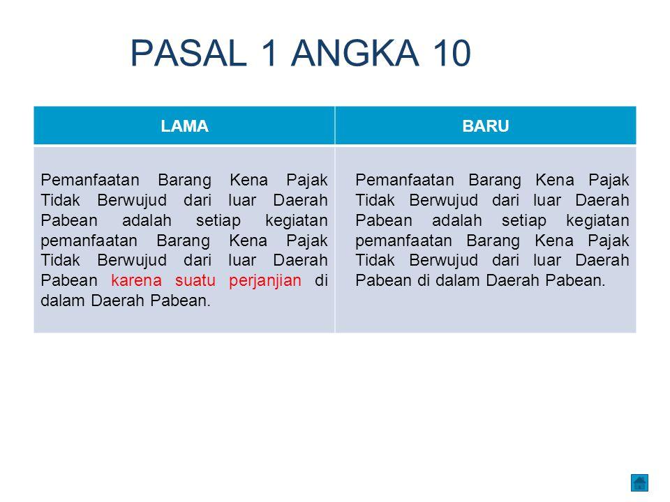 PASAL 1 ANGKA 10 LAMA. BARU.