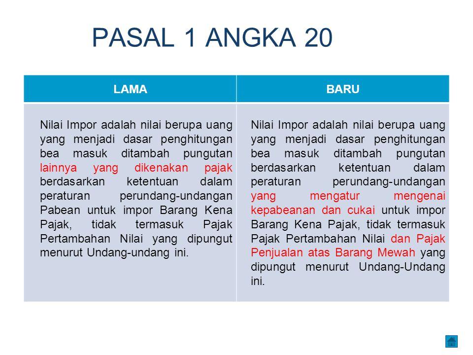 PASAL 1 ANGKA 20 LAMA. BARU.