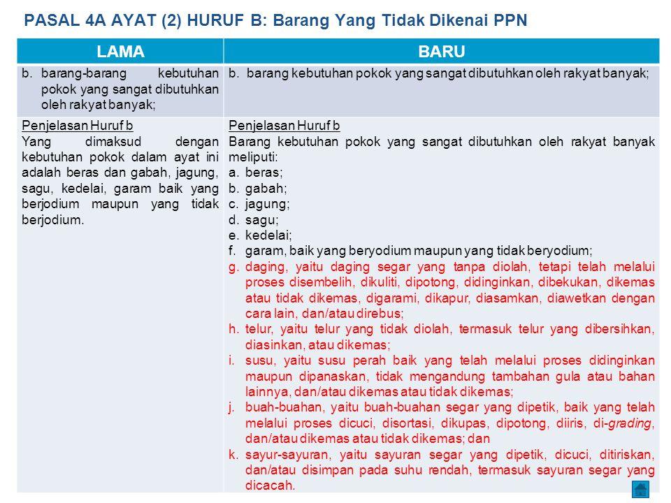 PASAL 4A AYAT (2) HURUF B: Barang Yang Tidak Dikenai PPN
