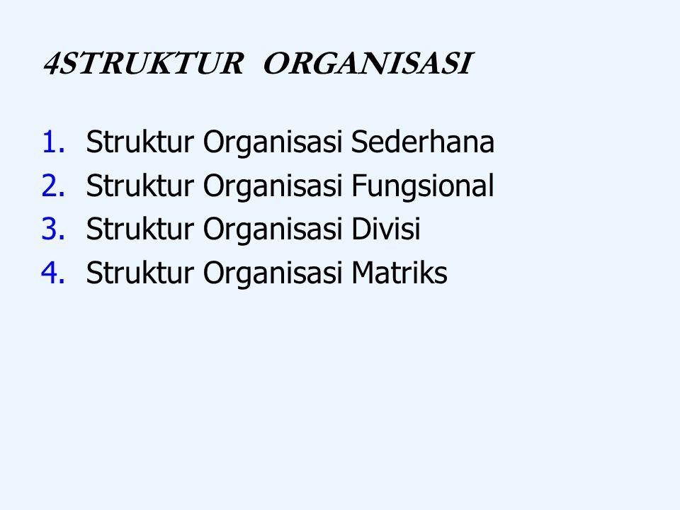 4STRUKTUR ORGANISASI Struktur Organisasi Sederhana