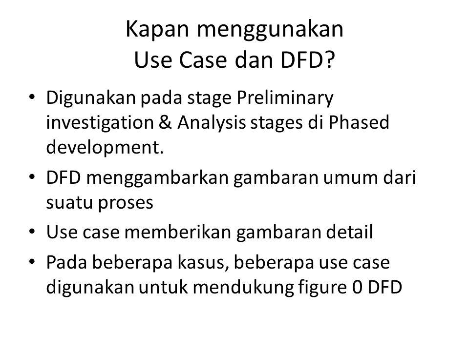Kapan menggunakan Use Case dan DFD