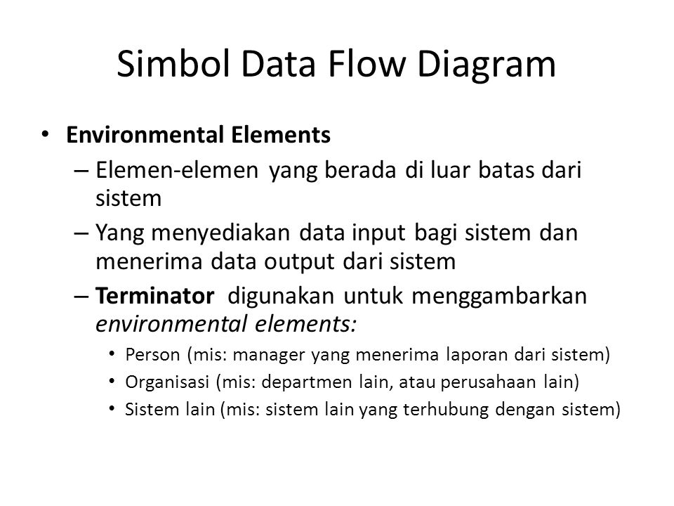Simbol Data Flow Diagram