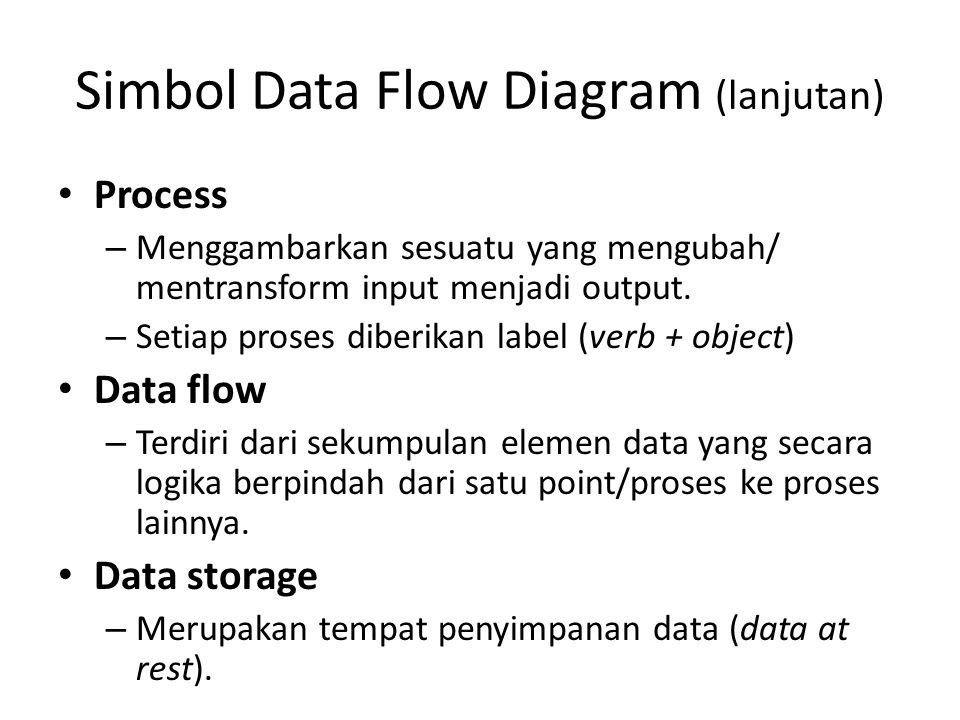 Simbol Data Flow Diagram (lanjutan)