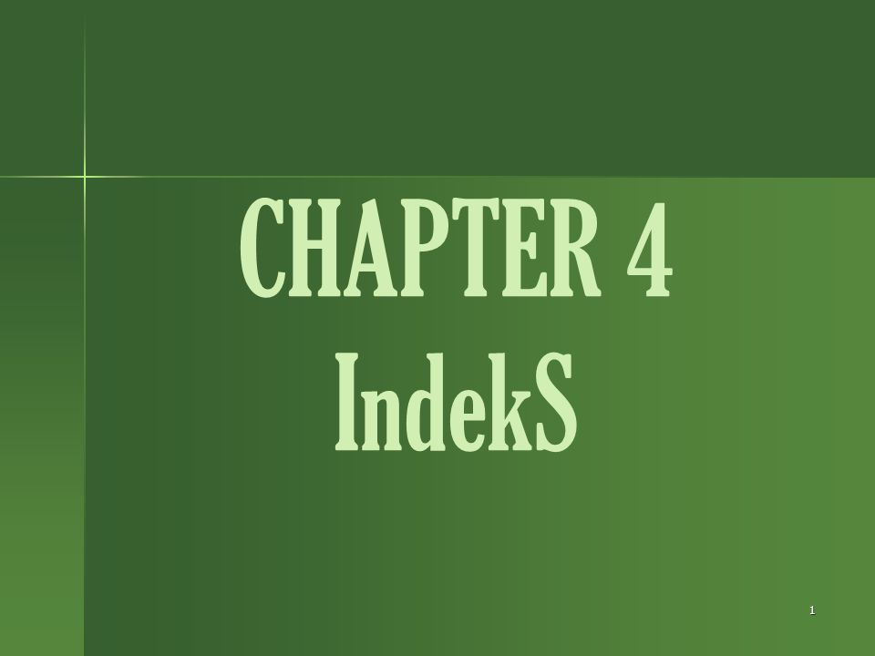 CHAPTER 4 IndekS