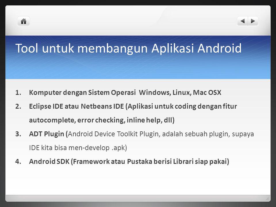 Tool untuk membangun Aplikasi Android