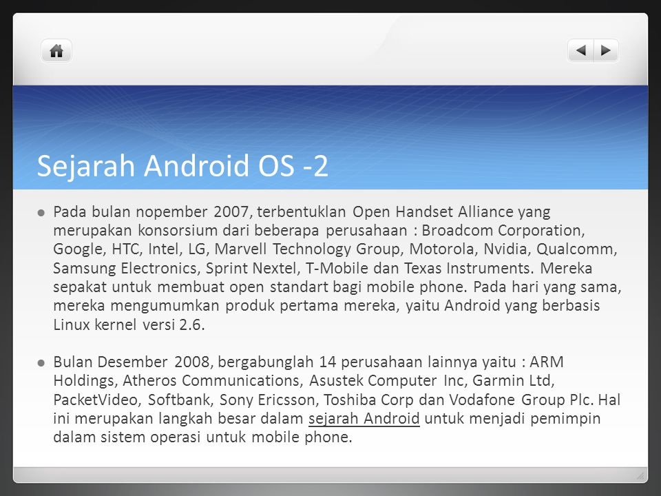 Sejarah Android OS -2