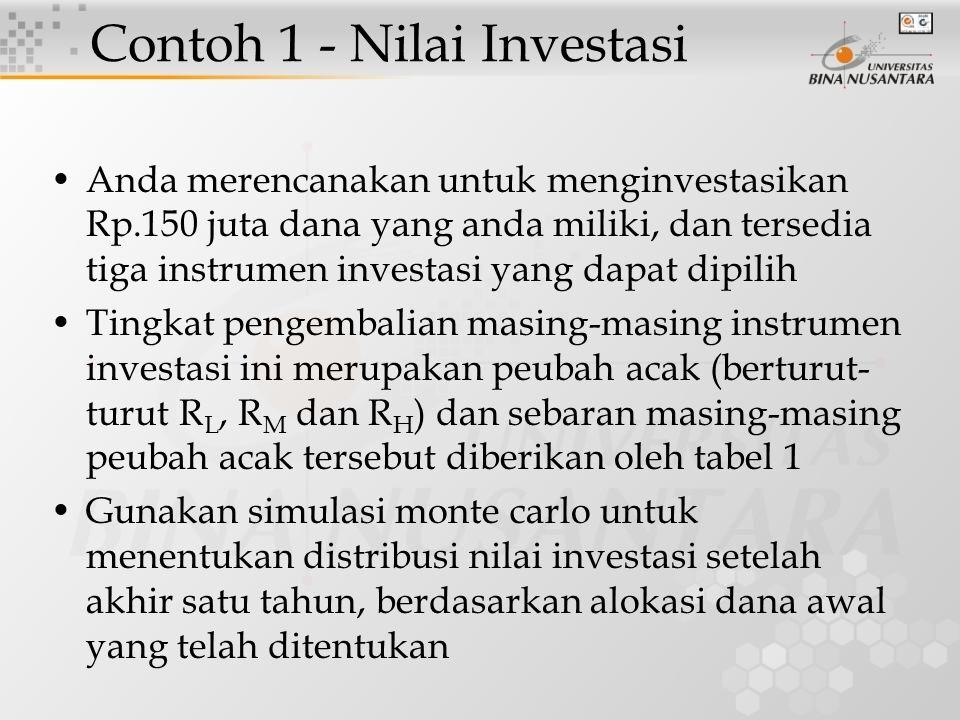 Contoh 1 - Nilai Investasi