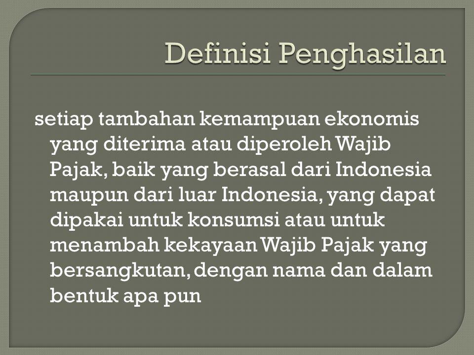Definisi Penghasilan