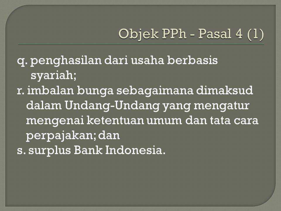 Objek PPh - Pasal 4 (1)