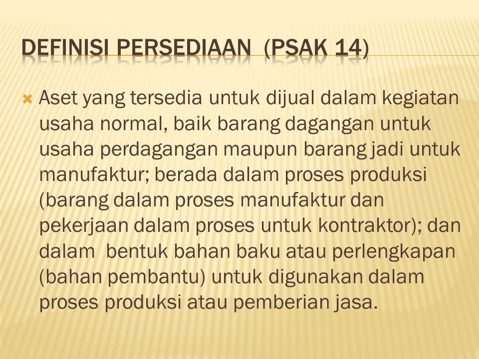 DEFINISI PERSEDIAAN (PSAK 14)