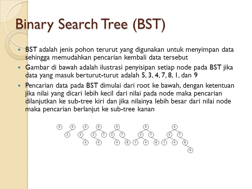 Binary Search Tree (BST)