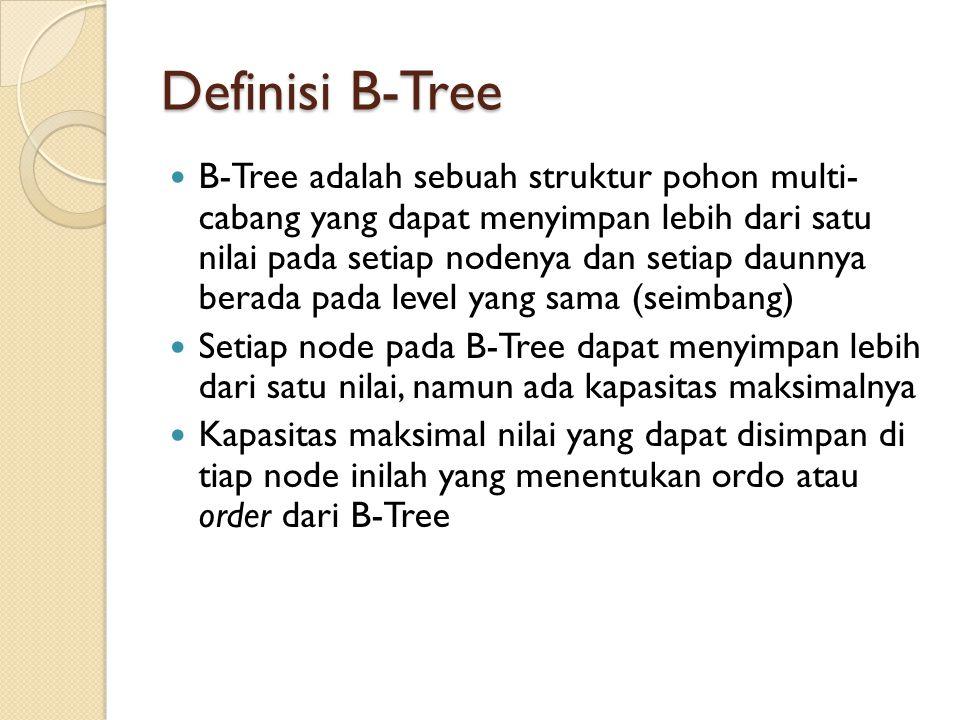 Definisi B-Tree