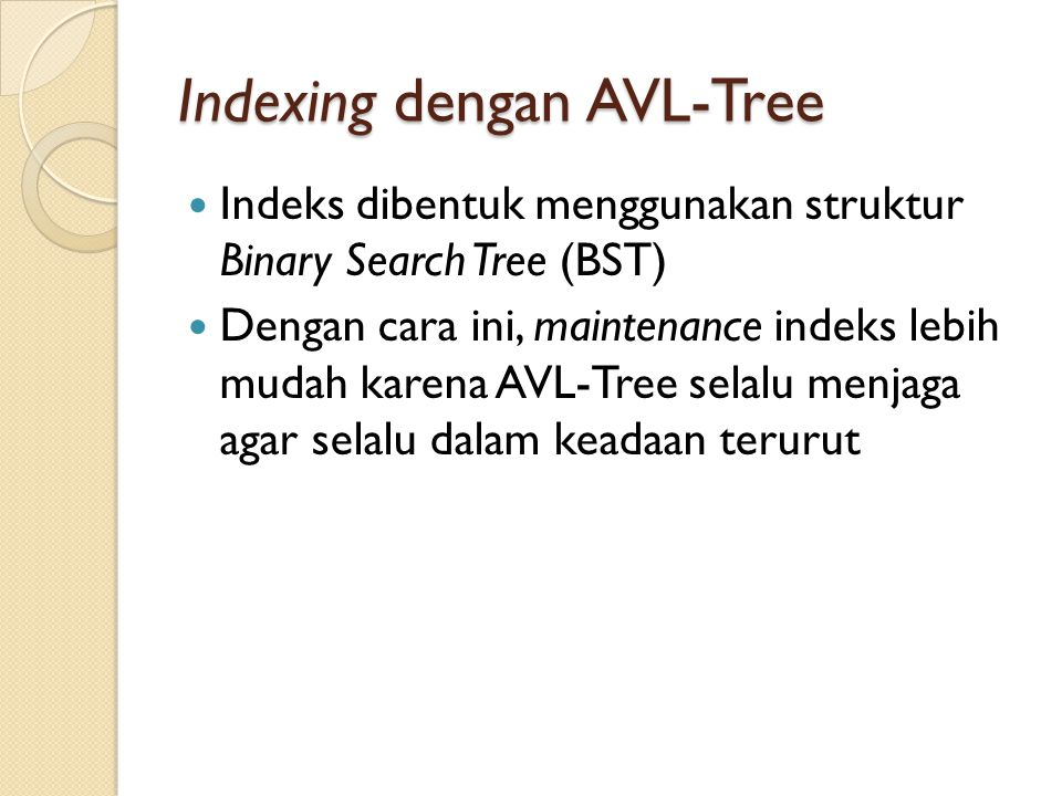 Indexing dengan AVL-Tree