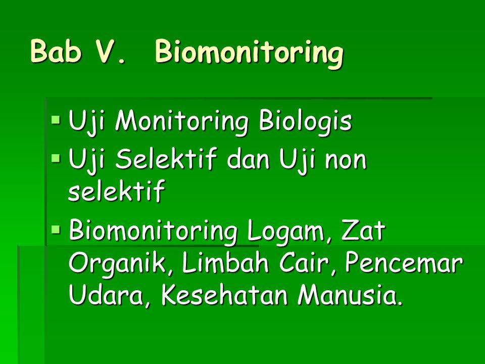 Bab V. Biomonitoring Uji Monitoring Biologis