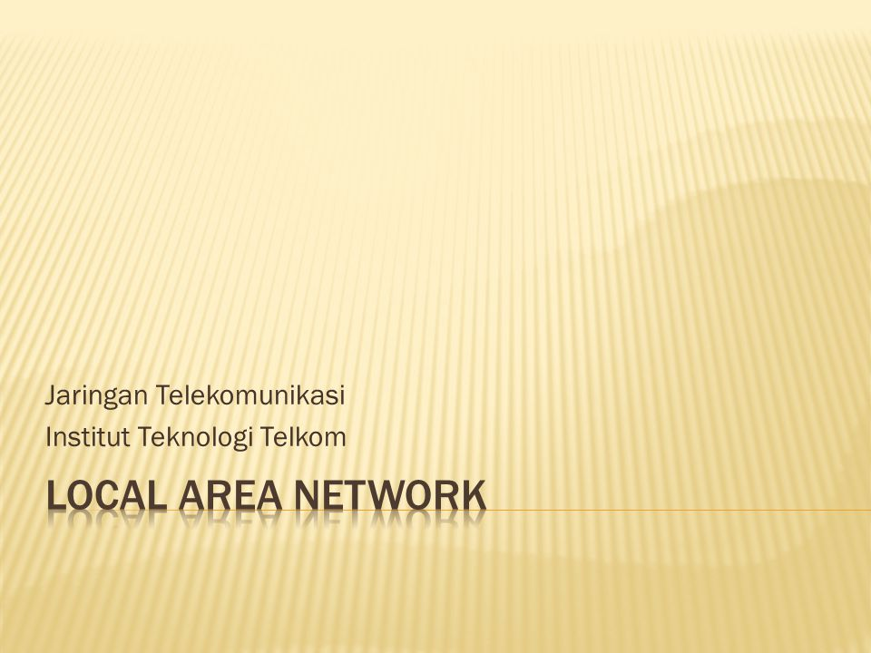 Jaringan Telekomunikasi Institut Teknologi Telkom