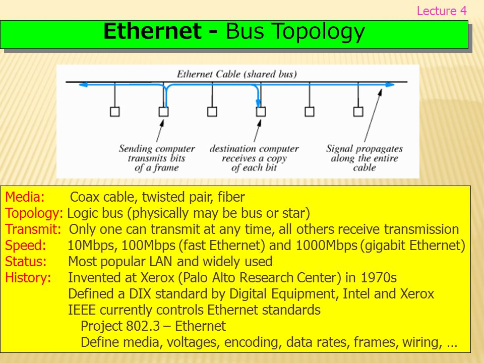 Ethernet - Bus Topology