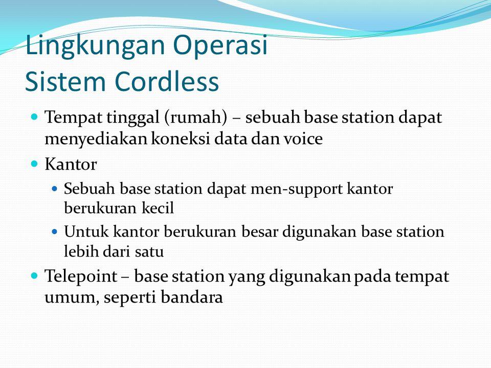 Lingkungan Operasi Sistem Cordless