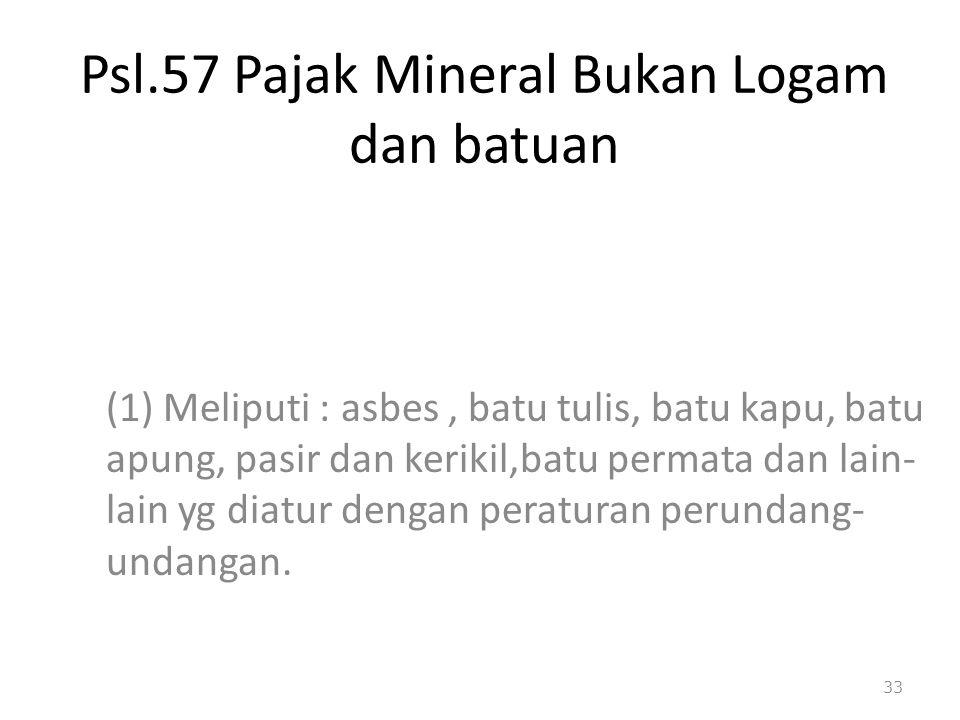 Psl.57 Pajak Mineral Bukan Logam dan batuan
