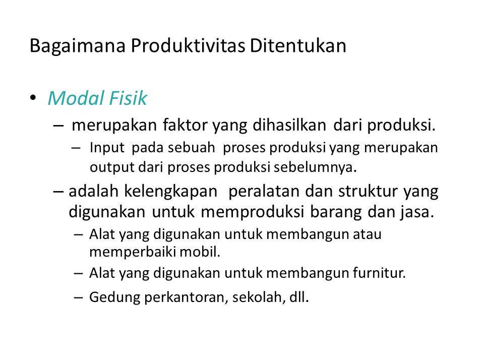 Bagaimana Produktivitas Ditentukan