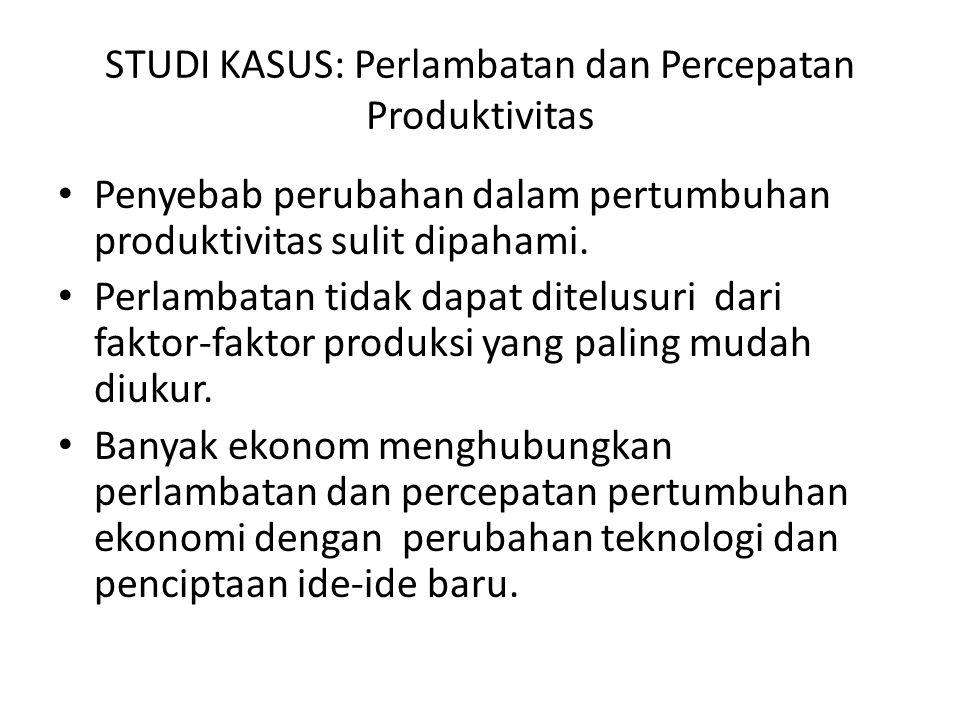 STUDI KASUS: Perlambatan dan Percepatan Produktivitas