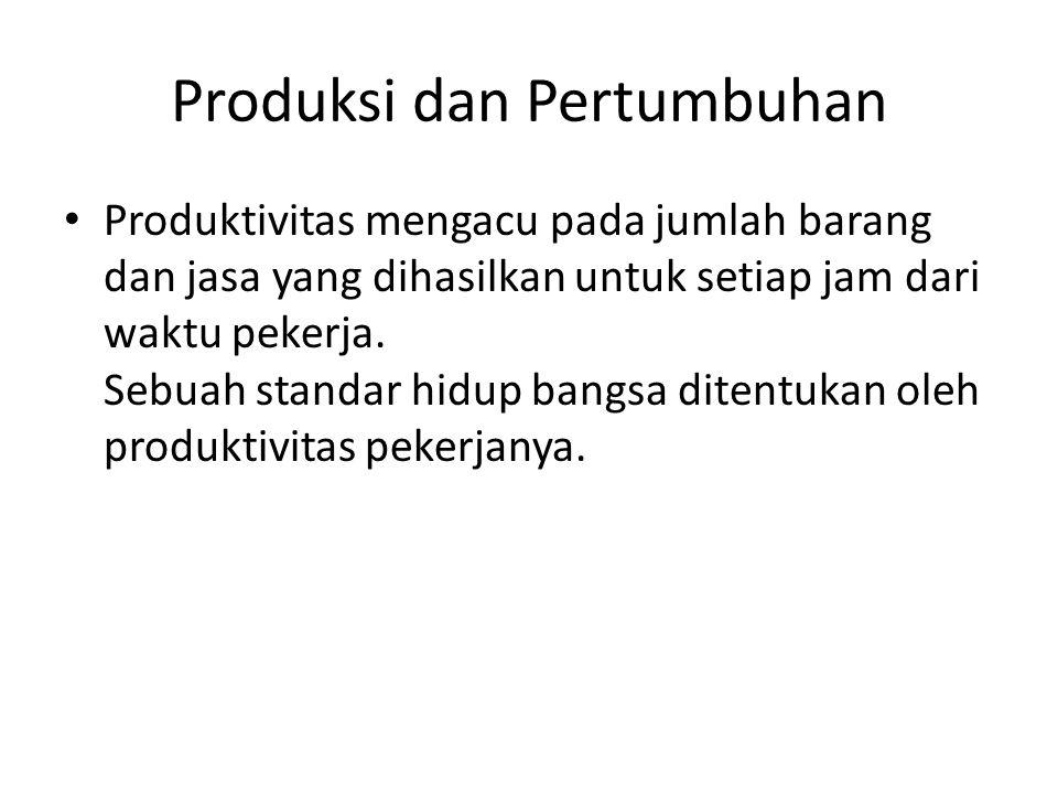 Produksi dan Pertumbuhan