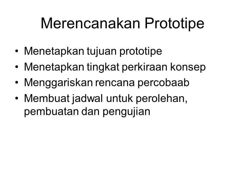 Merencanakan Prototipe