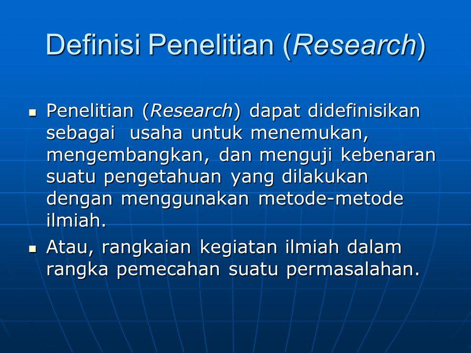 Definisi Penelitian (Research)