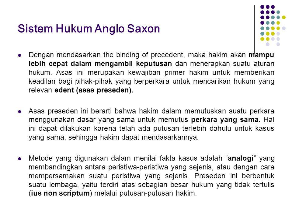 Sistem Hukum Anglo Saxon
