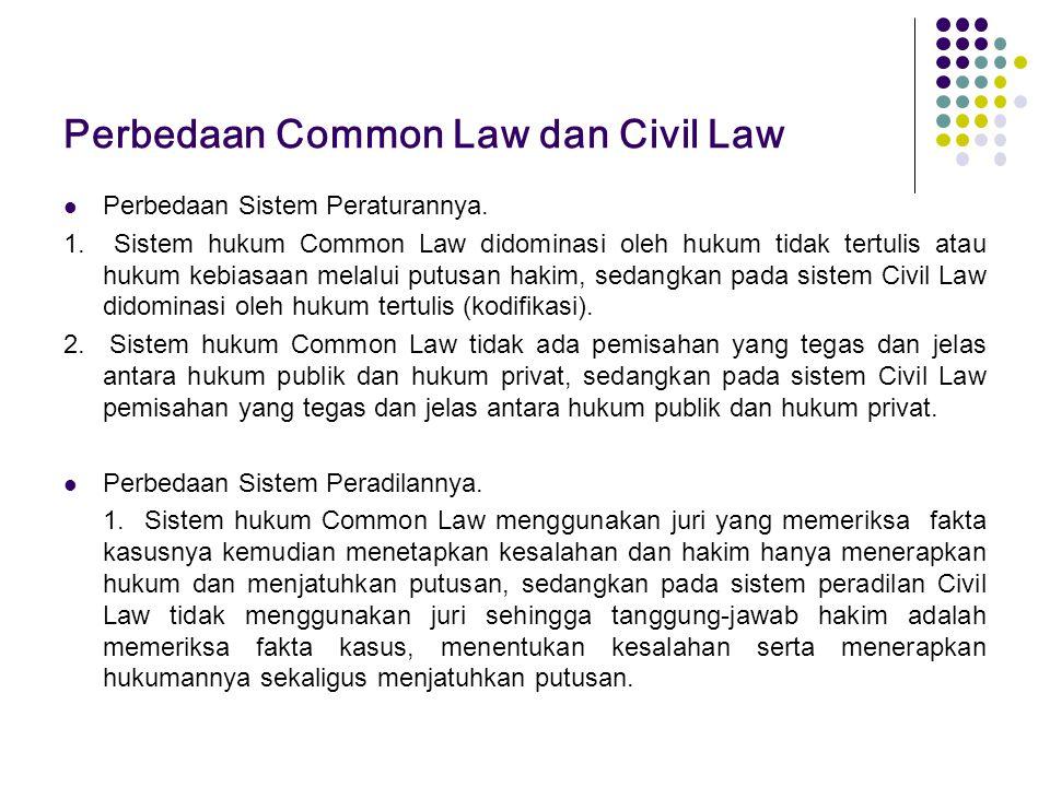 Perbedaan Common Law dan Civil Law