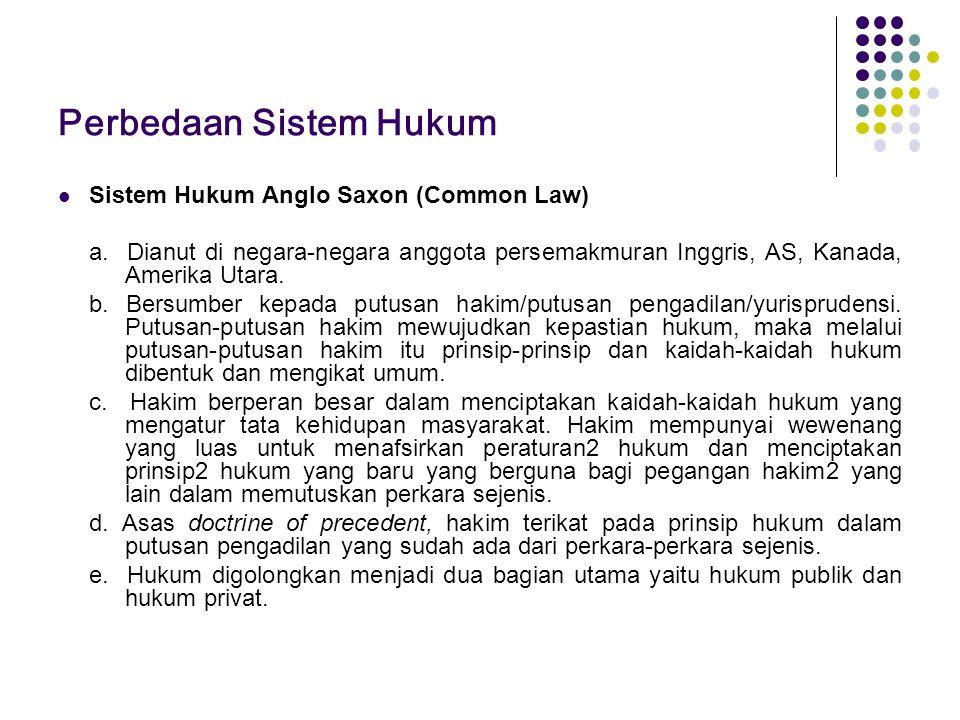 Perbedaan Sistem Hukum
