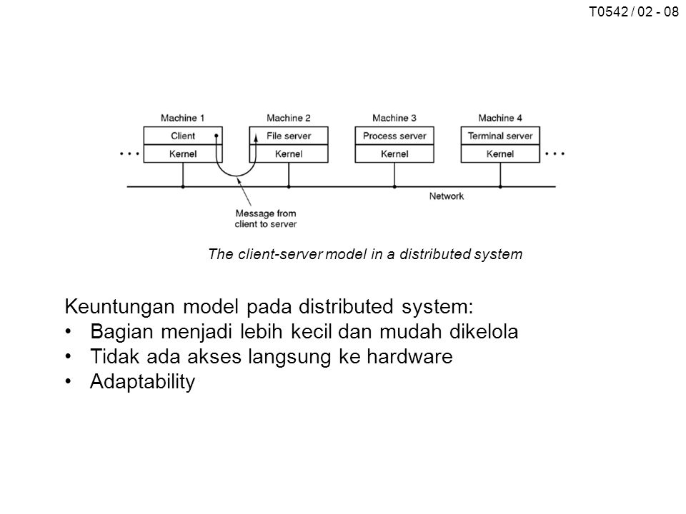 Keuntungan model pada distributed system: