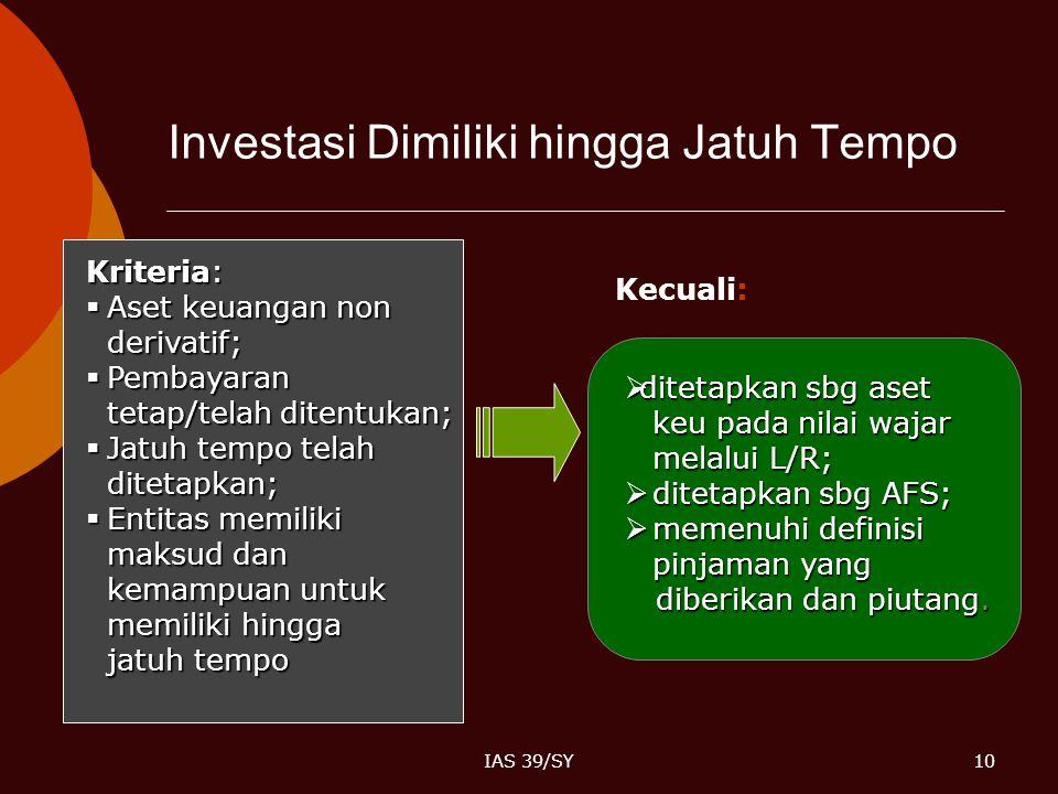 Investasi Dimiliki hingga Jatuh Tempo