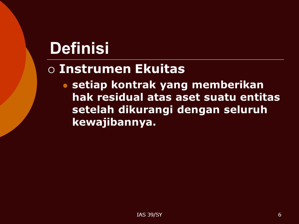 Definisi Instrumen Ekuitas